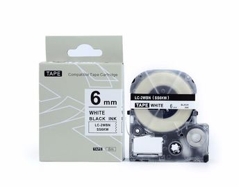 12mm 18mm de Cassette van de Etiketband, Koning Jim Label Tape Cartridge Black op Wit